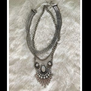 Rustic gunmetal chunky necklace