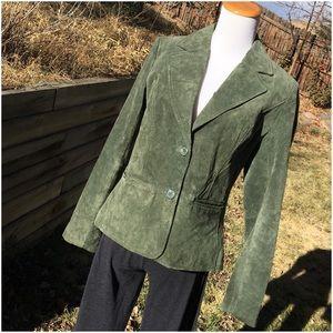 Relativity Jackets & Blazers - Relativity Olive Green Washable Suede Jacket EUC