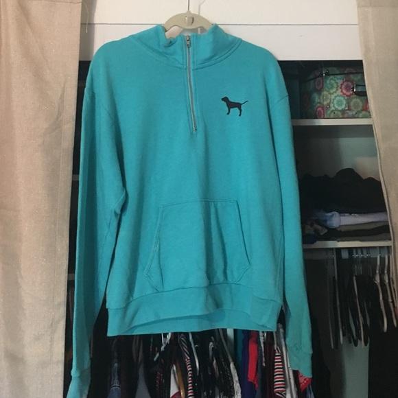 3da128236467a Blue half zip pink Victoria secret jacket