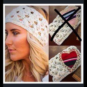 Three Bird Nest Accessories - Red Crochet Soft Headband.