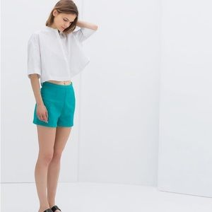 Zara Pants - 🐳Turquoise High-Wasted Shorts