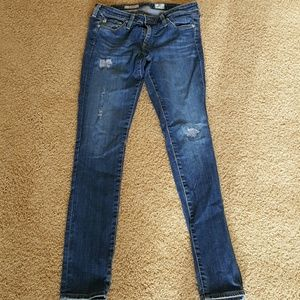 AG the legging super skinny distressed jeans 28R