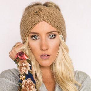 Three Bird Nest Accessories - Soft Knitted Turband Twist in Tan