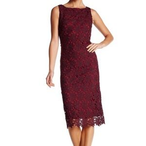 Roswell crochet lace shift dress