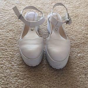 Size 6 White ASOS Platform Shoes