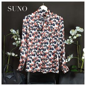 SUNO Tops - Suno Silk Blouse