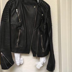 H&M leather jacket size 2 new without tags