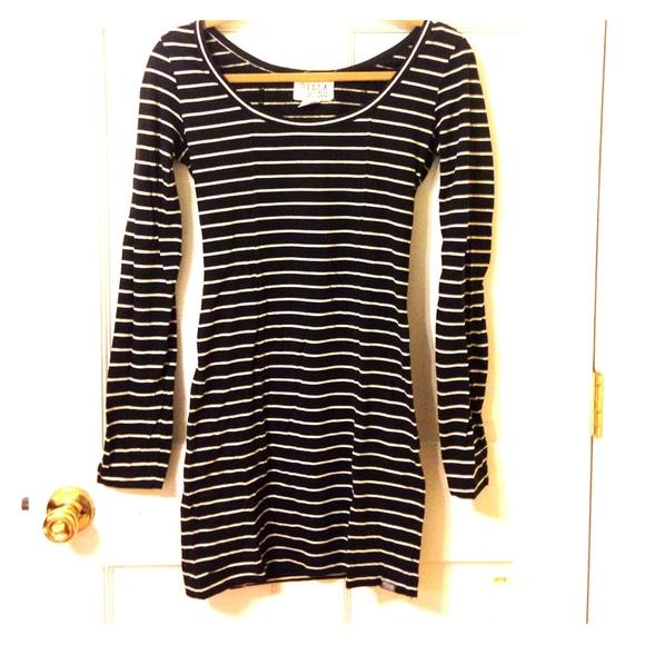 63% off Billabong Dresses &amp- Skirts - Billabong Long Sleeve Striped ...