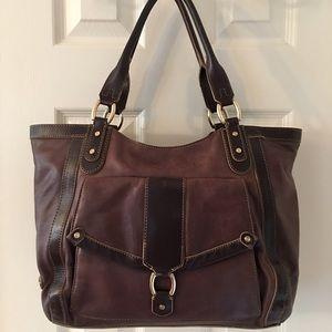 Cole Haan Handbags - 🛍 Cole Hana Brown Leather Tote Shoulder Bag