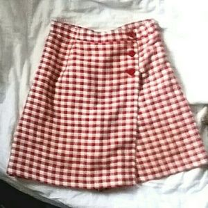 NYCC gingham skort vintage 90's plaid skirt 8