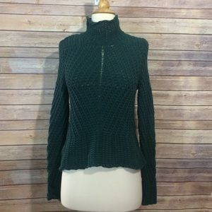 1. State Sweaters - Hunter Green turtleneck. Small.