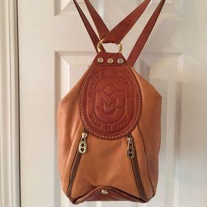 Marino Orlandi Handbags - 🛍 Marino Orlandi Brown Tan Leather Backpack Bag