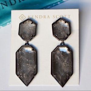 🆕Kendra Scott Mirror Rock Crystal Perla Earrings
