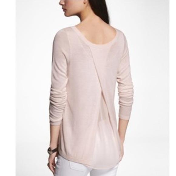 64% off Express Sweaters - ❌SOLD❌ Express Pink Chiffon Tulip ...