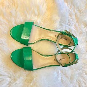 Ellen Tracy Shoes - 🎉HOST PICK🎉Ellen Tracy Green Leather Cork Wedges