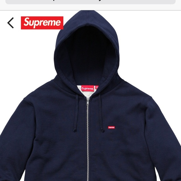Supreme small box thermal zip up hoodie 245d32ef274