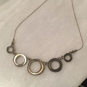 Unique Circles Silver Necklace