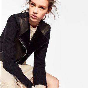 Zara Jackets & Blazers - Zara Contrast Biker Jacket
