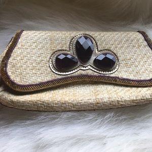 Anya Hindmarch Handbags - SAT. SALE! 🌿Gorgeous Anya Hindmarch straw clutch
