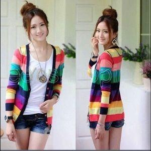 European Culture Sweaters - Rainbow Cardigan Sweater