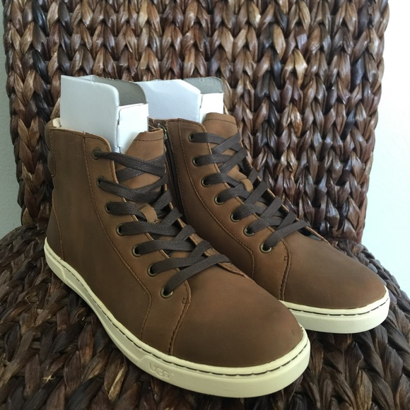 UGG Gradie Chocolate Hi Top Leather Shoes