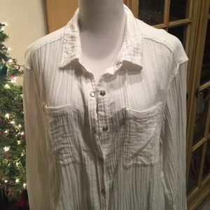 Free People white button down. Like new