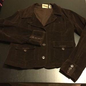 At Last Jackets & Blazers - Dark brown corduroy blazer