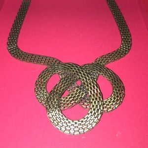 Gold Celtic style necklace
