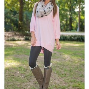 Tops - Pink slouchy tunic
