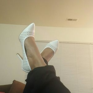 Christian Siriano Shoes - All White Pumps
