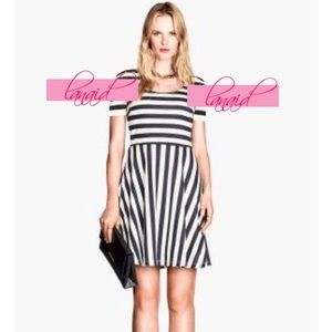 Striped Skater Fit And Flare Vertical Stripe Dress