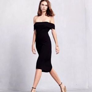 Reformation black carerra dress small