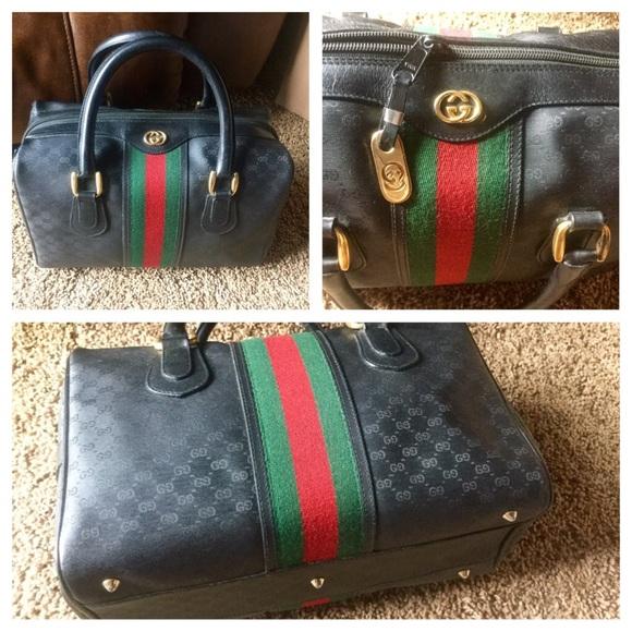 86e2716c52e8 Gucci Handbags - Authentic Vintage Gucci Speedy HTF Black