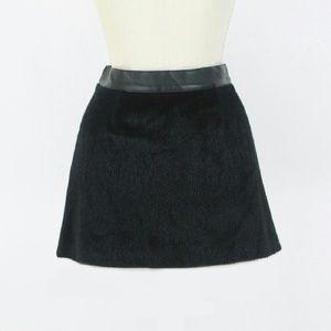 Sam Edelman faux pony hair mini skirt
