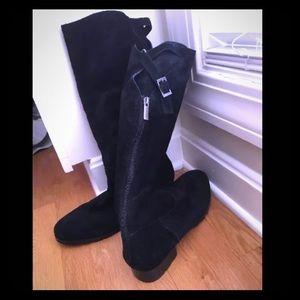 Suede Calvin Klein boots