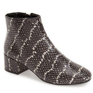 Topshop Snakeskin Bettie ankle boot