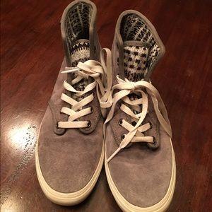 Suede high top Vans sneakers