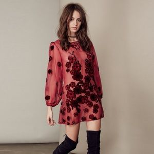 Authentic For love and lemons heather mini dress