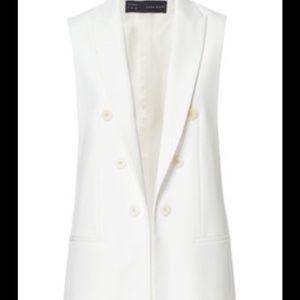 NEW ZARA Double Breasted White Vest