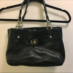 Black Leather Coach Handbag. No trades.