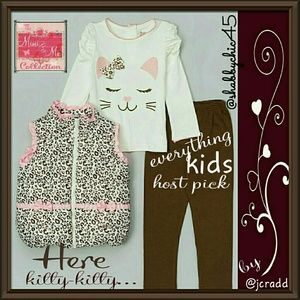 Young Hearts  Other - **SALE**Young Hearts Leopard Tee, Leggings & Vest