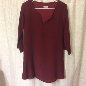 Tobi XS Dark Red Shift Dress