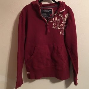 American Eagle Outfitters Other - AE hooded front zip distressed sweatshirt