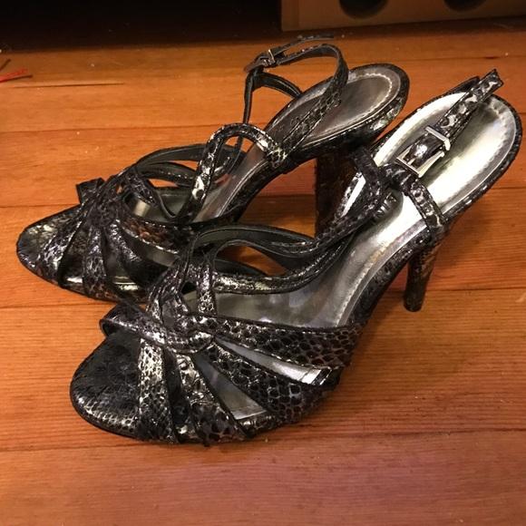 03475b779b2c3a Gianni Bini Shoes - Gianni Bini Metallic Silver Grey Heels (9)