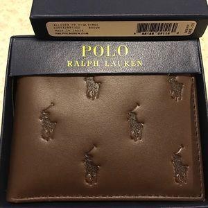 Ralph Lauren Other - Ralph Lauren Men Pony Logo Allover Leather Wallet+