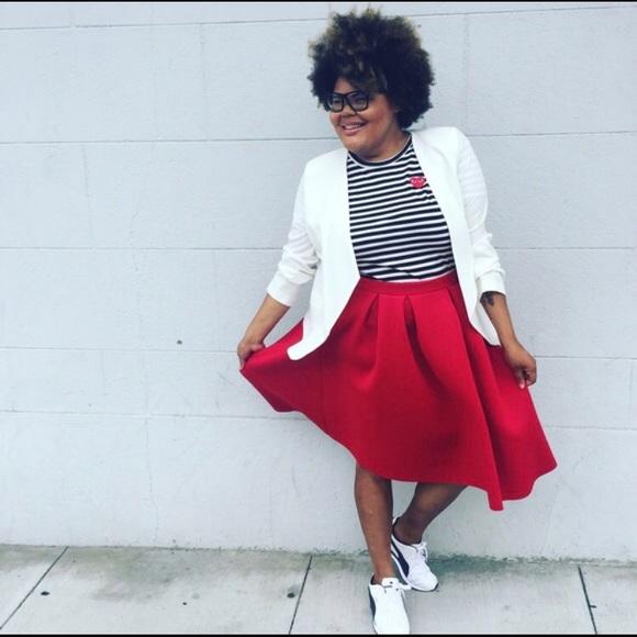 1fd166ed05e Charlotte Russe Dresses   Skirts - Red box pleated midi skirt