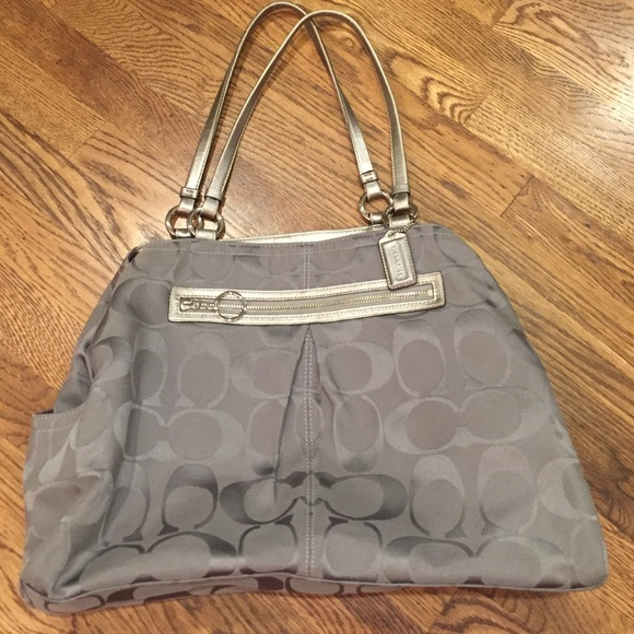 0c8d7ef506 ... shopping large grey coach shoulder bag a2ccc 64057 ...