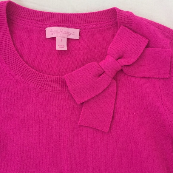 53% off Lilly Pulitzer Sweaters - Lilly Pulitzer hot pink bow ...