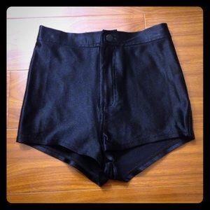 AA navy disco shorts! XS