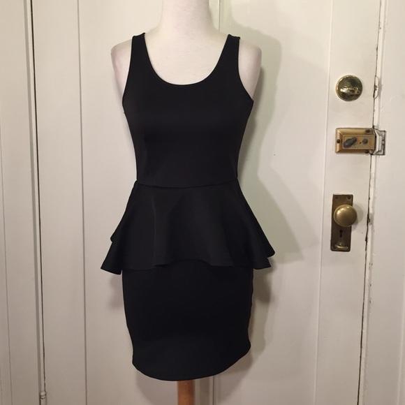 H m black dress zipper